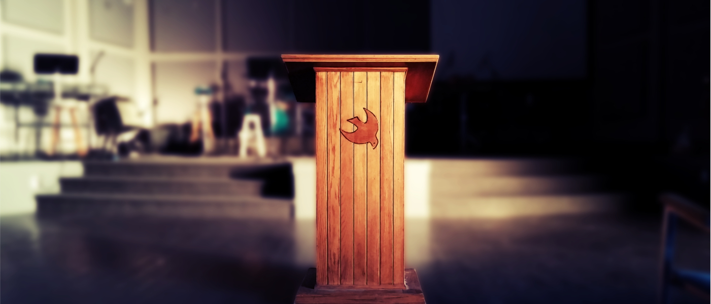 Pulpit blurred